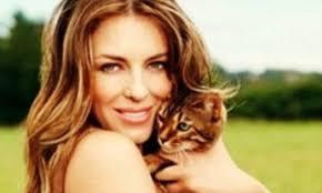 liz hurley and cat